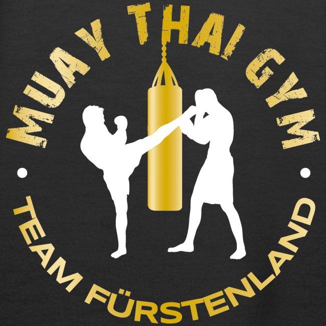 Logo MUAY THAI GYM Team Fuerstenland gold weiss
