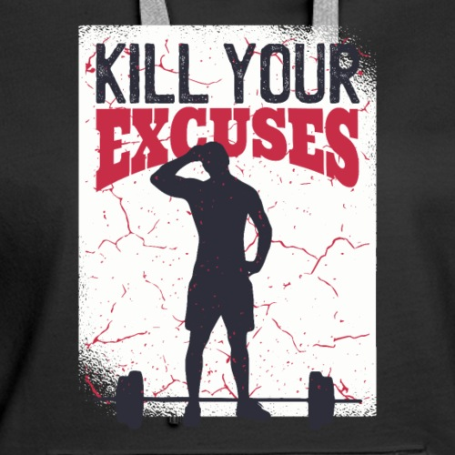 No more Excuses Sports Fitness Gym Calisthenics - Women's Premium Hoodie