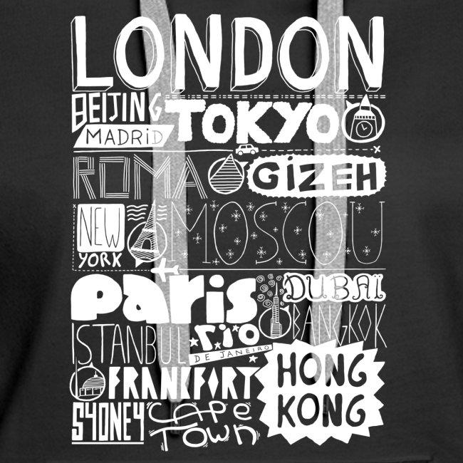 Villes du monde - blanc