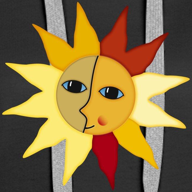Sonnenstrahlen Mond Gesicht Augenblick Glück hygge