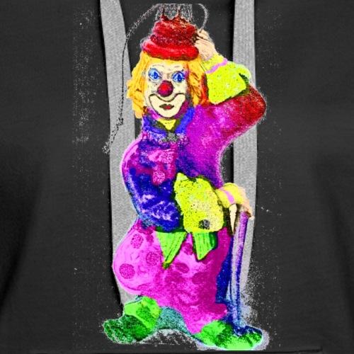 clown gemalt finish IMG 4 - Frauen Premium Hoodie
