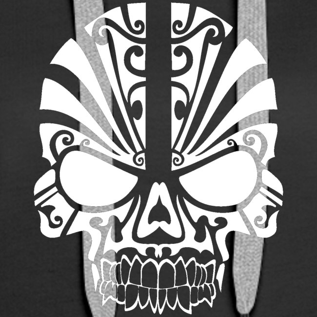 tribal skull white