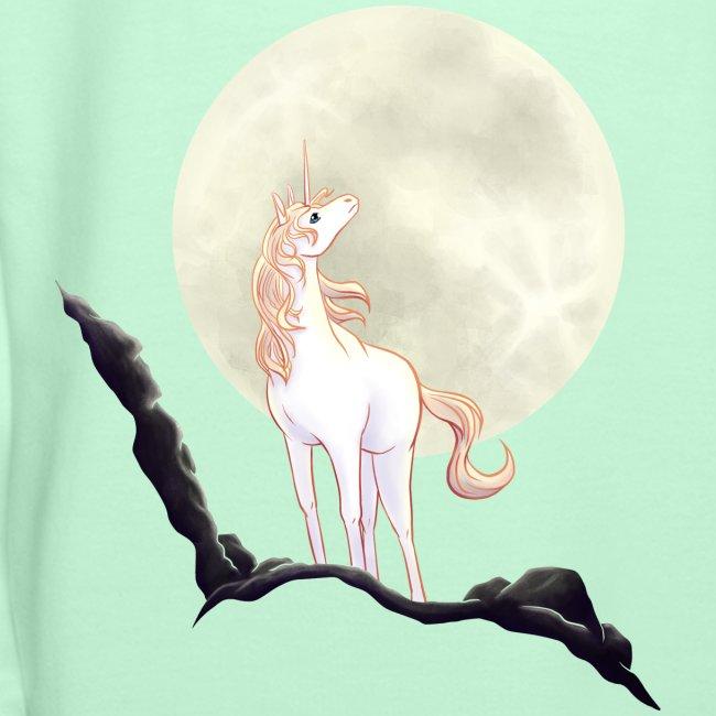 Einhorn vor Mond