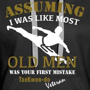 Tae Kwon Do Veteran Male - Women's Premium Hoodie