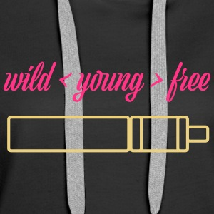 wild young free with TubeMod - Women's Premium Hoodie