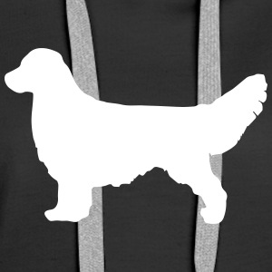 GOLDEN RETRIEVER Silhouette - Premium hettegenser for kvinner