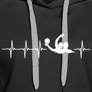 I love water polo (water polo heartbeat) - Women's Premium Hoodie