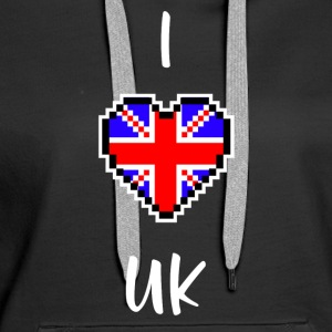 I love UK - Women's Premium Hoodie