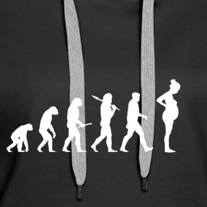 Evolution Pregnant! Child! Pregnancy! Infant! - Women's Premium Hoodie