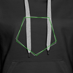 Shifted polygon Green - Women's Premium Hoodie