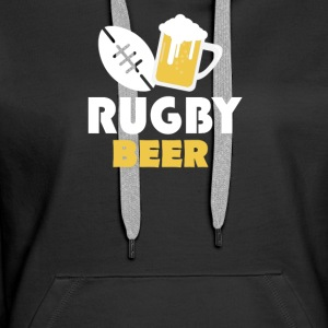 Rugby and beer - Women's Premium Hoodie