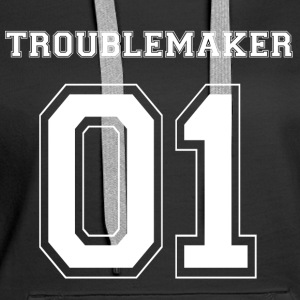 TROUBLEMAKER 01 - White Edition - Frauen Premium Hoodie
