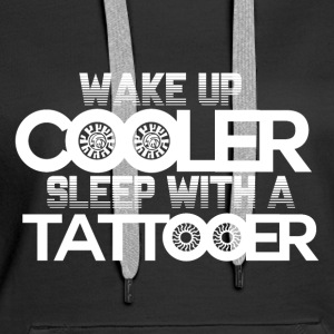 Wake Up Cool! - Tattoo - Felpa con cappuccio premium da donna