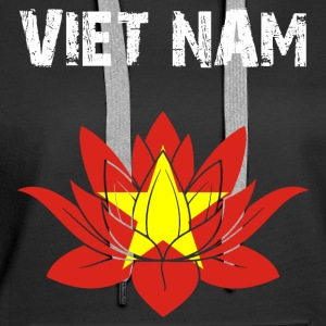 Nation design Viet Nam Lotus - Women's Premium Hoodie