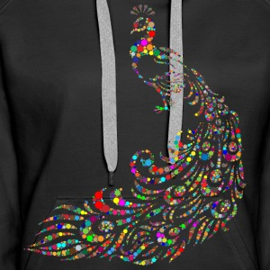 Pfau - Abstract - Frauen Premium Hoodie