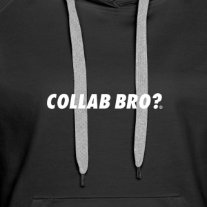 COLLAB BRO? ORIGINALS WHITE EDITION - Felpa con cappuccio premium da donna