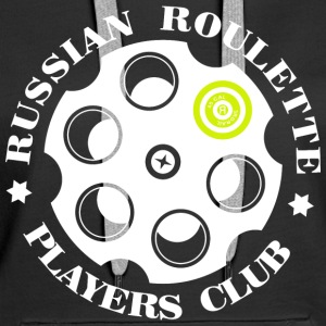 Russian Roulette Players Club logo 4 Sort - Premium hettegenser for kvinner