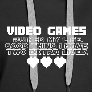 Video Games - More Lives - Frauen Premium Hoodie