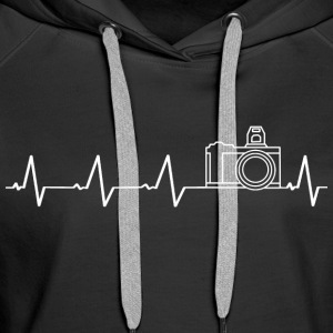 I love photography (heartbeat) - Women's Premium Hoodie