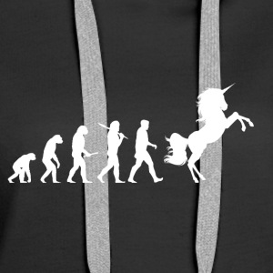 Evolution Unicorn - Women's Premium Hoodie