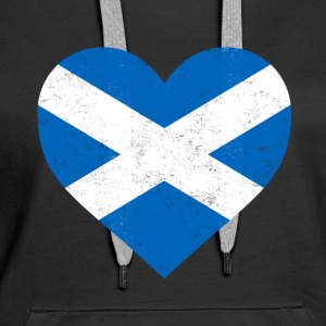 Schottland-Flagge Shirt Herz - Scottish Shirt - Frauen Premium Hoodie