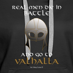 Real Men go to Valhalla - Women's Premium Hoodie