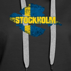Stockholm - Swedish Flag Sweden Design - Women's Premium Hoodie
