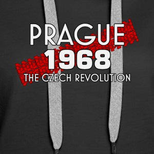 Prague 1968 spring Czech revolution freedom tshirt - Women's Premium Hoodie