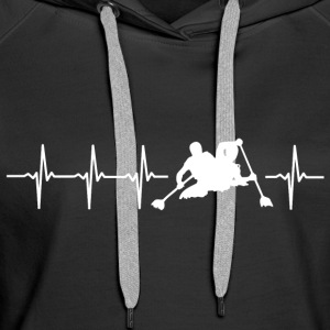 I love kayaking (kayak heartbeat) - Women's Premium Hoodie