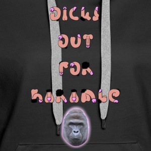 Dicks Out For Harambe - Bluza damska Premium z kapturem