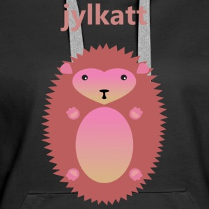 Christmas cat in pink - Women's Premium Hoodie