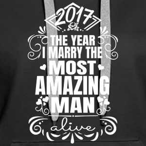 Wedding / Engagement 2017-Best Man - Sweat-shirt à capuche Premium pour femmes