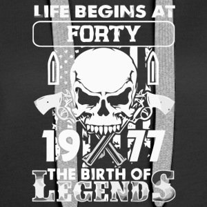 1977 the birth of the Legends shirt - Women's Premium Hoodie