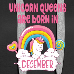 Unicorn Queens föds i december - Premiumluvtröja dam