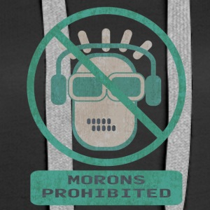 Blue moron prohibited - Women's Premium Hoodie