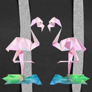 Low-poly Flamingos - Premiumluvtröja dam