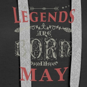 Birthday May legends born gift birth - Women's Premium Hoodie