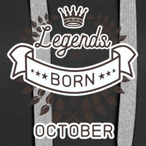 Birthday October legends born gift birth - Women's Premium Hoodie