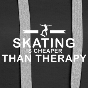 Skating is cheaper than therapy - Frauen Premium Hoodie