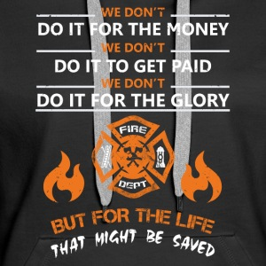 Lifeguard firefighter rescue service - Women's Premium Hoodie