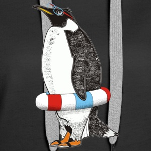 PENGUIN WAITS FOR SUMMER - Women's Premium Hoodie