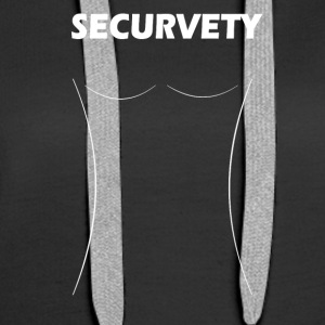 Securvety White - Sexy Curvy security. - Women's Premium Hoodie