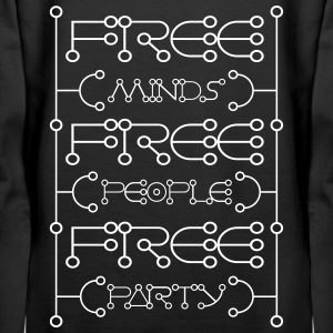 Free minds free people free party - Women's Premium Hoodie