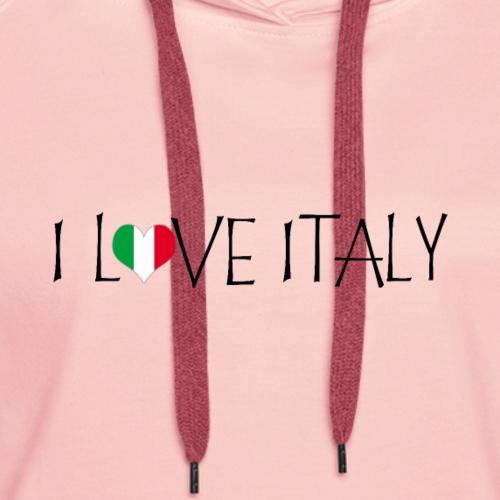 I LOVE ITALIE - Sweat-shirt à capuche Premium pour femmes