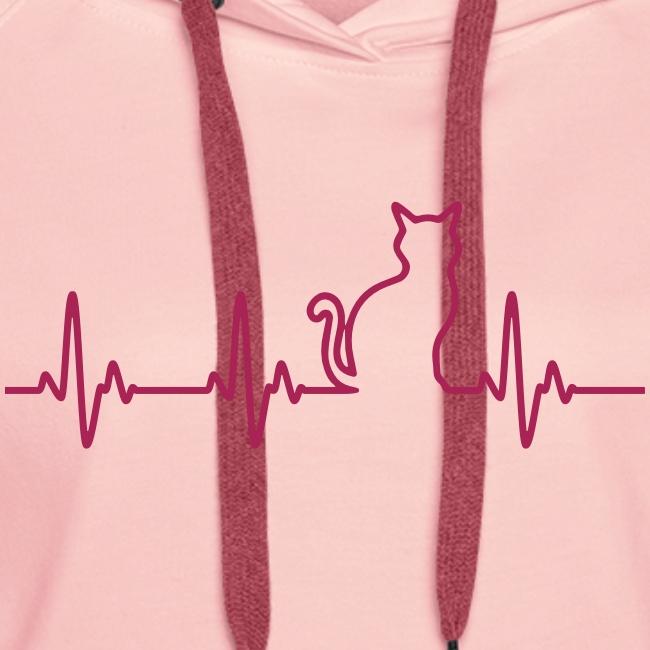 Vorschau: Ein Herz für Katzen - Frauen Premium Hoodie