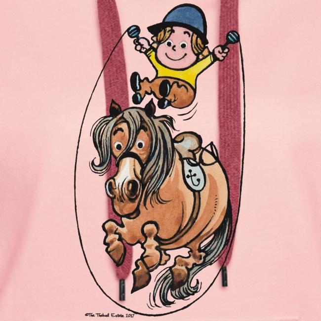 Thelwell Reiter Und Pony Machen Seilspringen