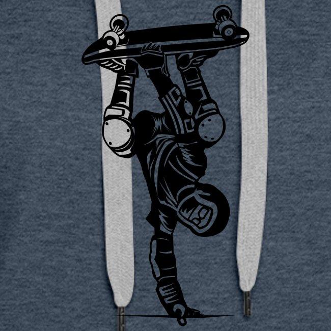 Skater / Skateboarder 02_schwarz