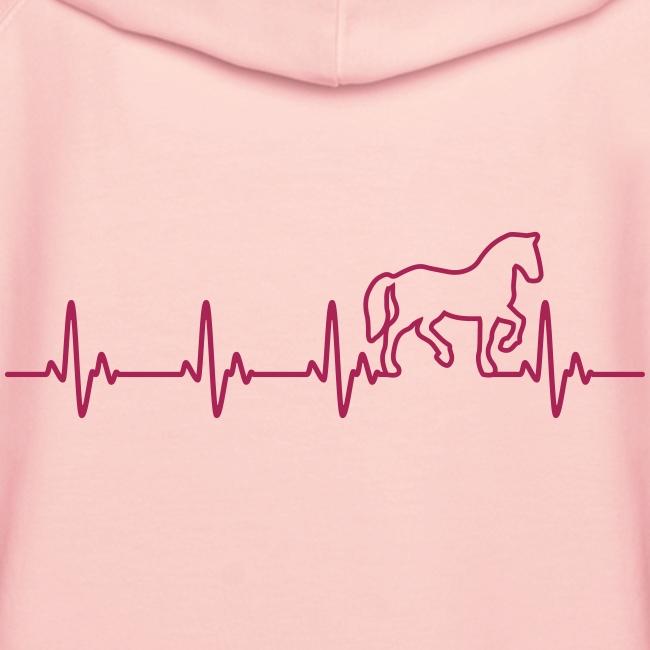 Vorschau: Horse Heartbeat - Frauen Premium Hoodie