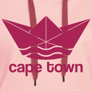 Kaapstad / Cape Town design (Paper Boat) - Vrouwen Premium hoodie