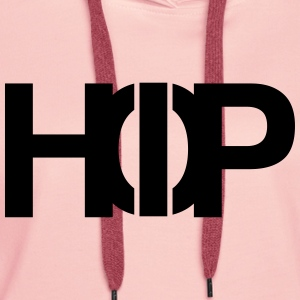 Hiphop hip hop OldSchool in One - Felpa con cappuccio premium da donna